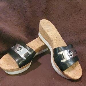 Michael Kors Warren Platform Wedge Slide Sandal